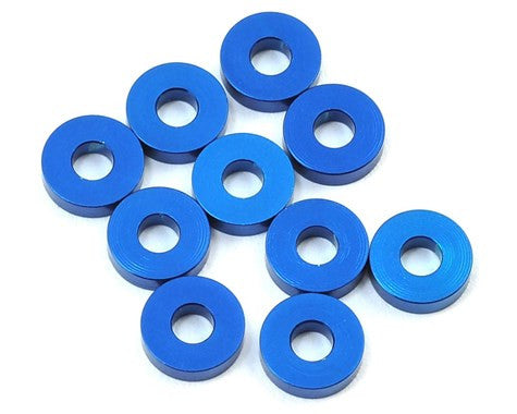 Team Associated 7.8x2.0mm Aluminum Bulkhead Washer (Blue) (10)
