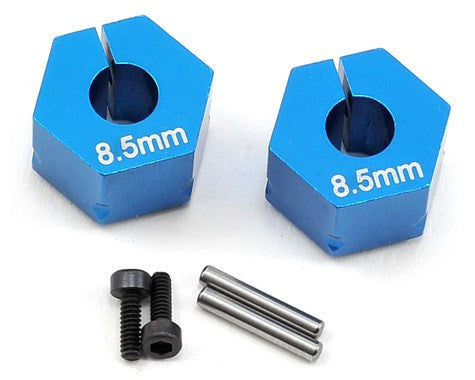 Team Associated 8.5mm Aluminum Factory Team Clamping Wheel Hex (2) (Blue)