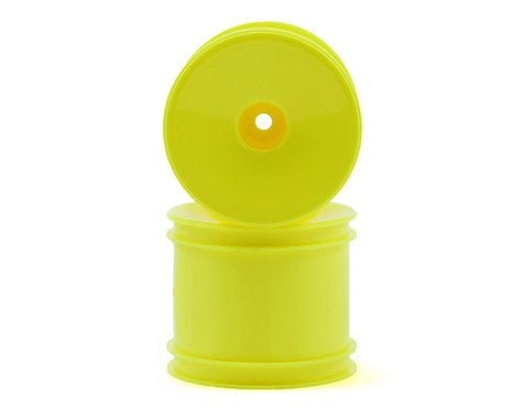 Team Associated 12mm Hex Stadium Truck Dish Wheel (2) (Yellow) - GRIPWORKS RC