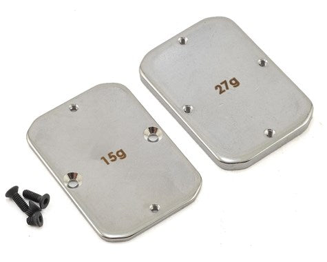 Team Associated B64 Steel Chassis Weights (15g, 27g)