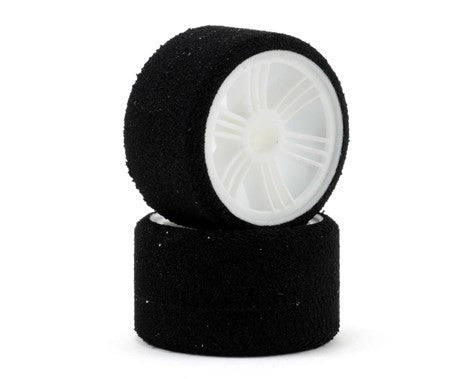 Contact RC 1/12 Foam Front Tires (2) (White) (30 Shore) - GRIPWORKS RC