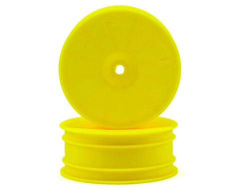 "DE Racing 12mm Hex ""Speedline"" 2.2 4WD Front Buggy Wheels (2) (22-4/D413) (Yellow)"