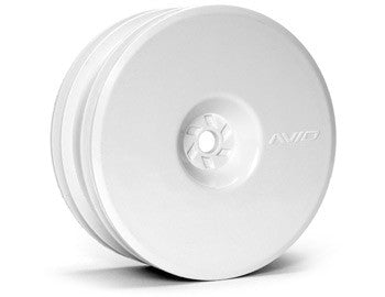 Satellite Front Wheel (B5, RB5) | 12mm Hex | White Pair - GRIPWORKS RC