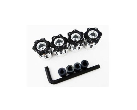 Hot Racing 12mm to 17mm Hex Hub Adapters (4) (6mm Offset)