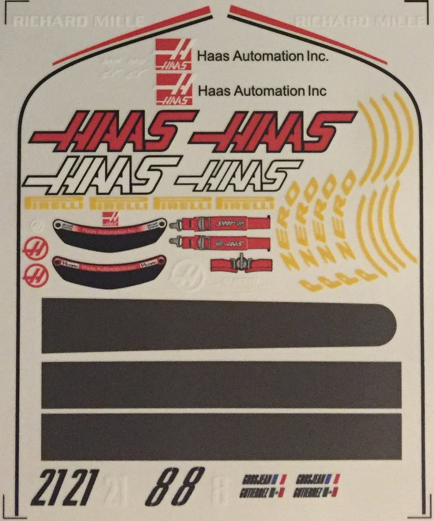 F1PAINTLAB F1 DECAL SHEET (HAAS VF-16)