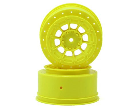 JConcepts 12mm Hex Hazard Short Course Wheels (Yellow) (2) (TEN-SCTE)