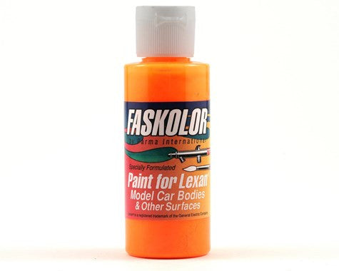 Parma PSE FasFluorescent Flaming Orange Faskolor Lexan Body Paint (2oz) - GRIPWORKS RC