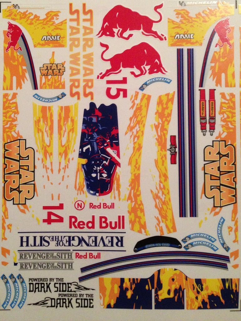 F1PAINTLAB F1 DECAL SHEET (Red Bull Star Wars)