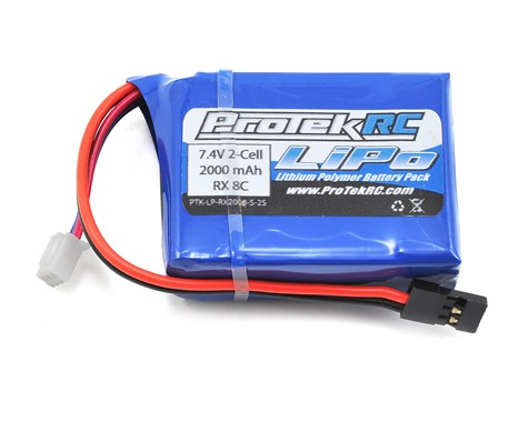 ProTek RC LiPo HB & Losi 8IGHT Receiver Battery Pack (7.4V/2000mAh)