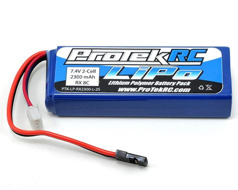 ProTek RC LiPo Mugen & AE Receiver Battery Pack (7.4V/2300mAh) (w/Balancer Plug)