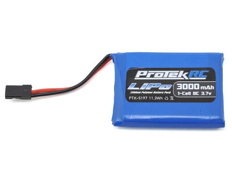 ProTek RC 1S LiPo Transmitter Battery (3.7V/3000mAh) (Sanwa M17 and MT-44)