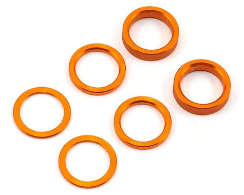 SET OF ALU SHIMS (0.5MM, 1.0MM, 2.0MM) ORANGE