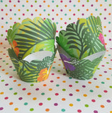 Tropical Hibiscus Cupcake Wrappers