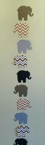 Chevron Elephant Garland/Streamer