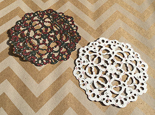 Die Cut Reversible Christmas Paper Lace Doilies