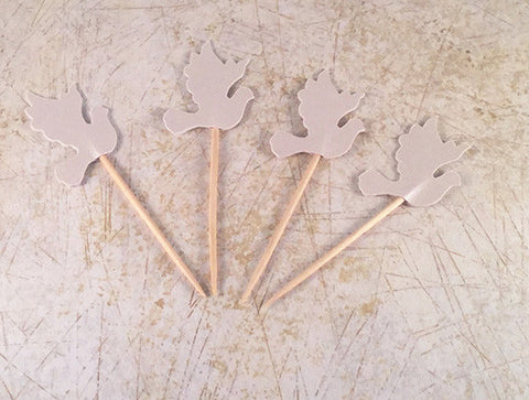 Pearl Dove Cupcake Topper Picks