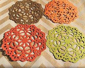 Die Cut Autumn Paper Lace Doilies