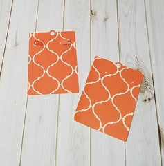 Earring Card, Orange, Ivory Moroccan