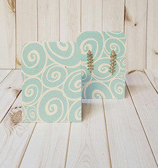 Earring Display Tent, Turquoise Ivory Swirl
