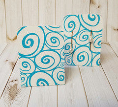 Earring Display Tent, Turquoise White Swirl