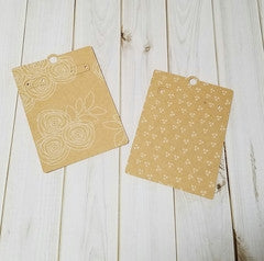 Earring Card, Whimsical Kraft, Reversible