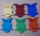 Die Cut Owls for Scrapbooking, Card Making, Tags, banners, Toppers - 20