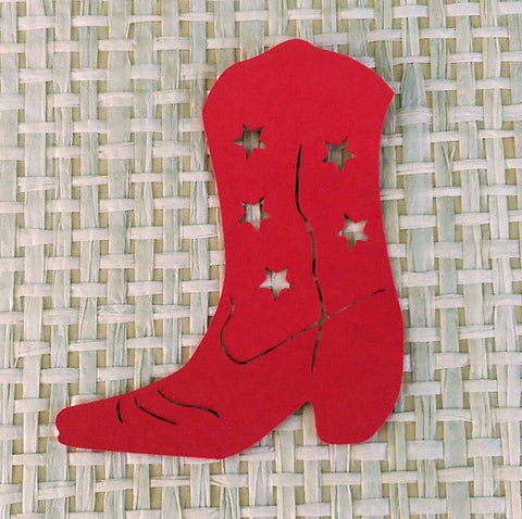 12 Die Cut Red Cowboy, Cowgirl Boots, Scrapbooking, Card Making, Gift Tags