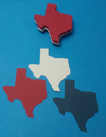 24 Die Cut State of Texas, Red, White, Blue, Scrapbooking, Card Making, Tags