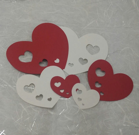42 Heart to Hearts Assortment, Scrapbooking, Embellishment, Card Making, Valentine Decoration