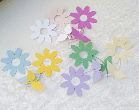 Flower Bouquet Paper Embellishment for Scrapbooking, Card Making, Party Decorations (24)