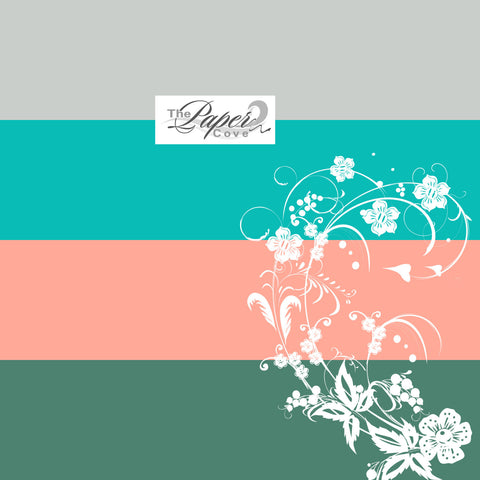 Digital Scrapbook Paper, Aquamarine