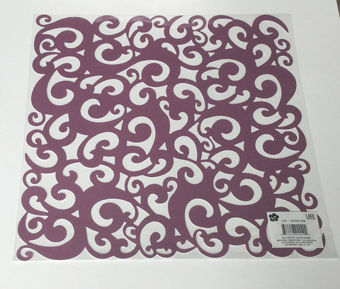 Eggplant Perm Lace Cardstock by Ki Memories for Scrapbooking, Card Making