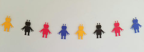 Robot Garland For Baby Shower, Birthday Party, Baby Nursery BRYB