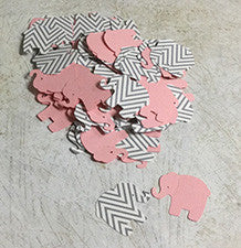 Die Cut Elephants for Scrapbooking, Party Confetti, Card Making