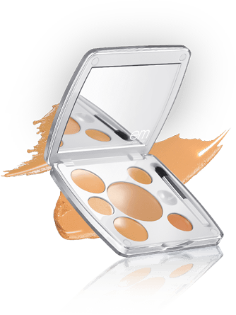 shade play<br/>concealer color mixing palette