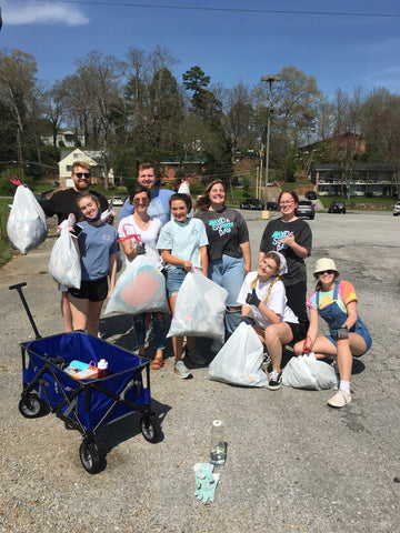 Shelly Cove Team on Earth Day Clean