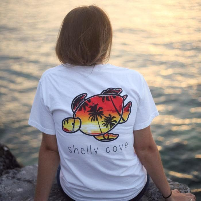 Palm Island Short Sleeve Tee - Shelly Cove