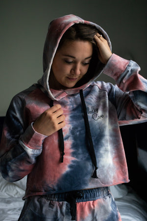 Sunrise Tide Tie-Dye Hoodie Lounge Set - Shelly Cove