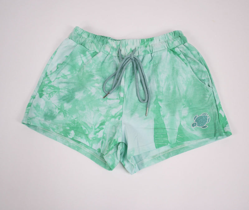 Crystal Wash Tie Dye Lounge Shorts - Shelly Cove