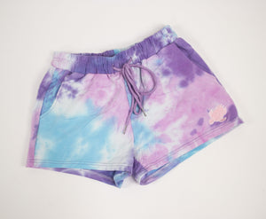 Cotton Candy Tie Dye Lounge Shorts - Shelly Cove