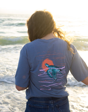 Sunrise Swim Turtle Tee Short Sleeve Tee - Shelly Cove