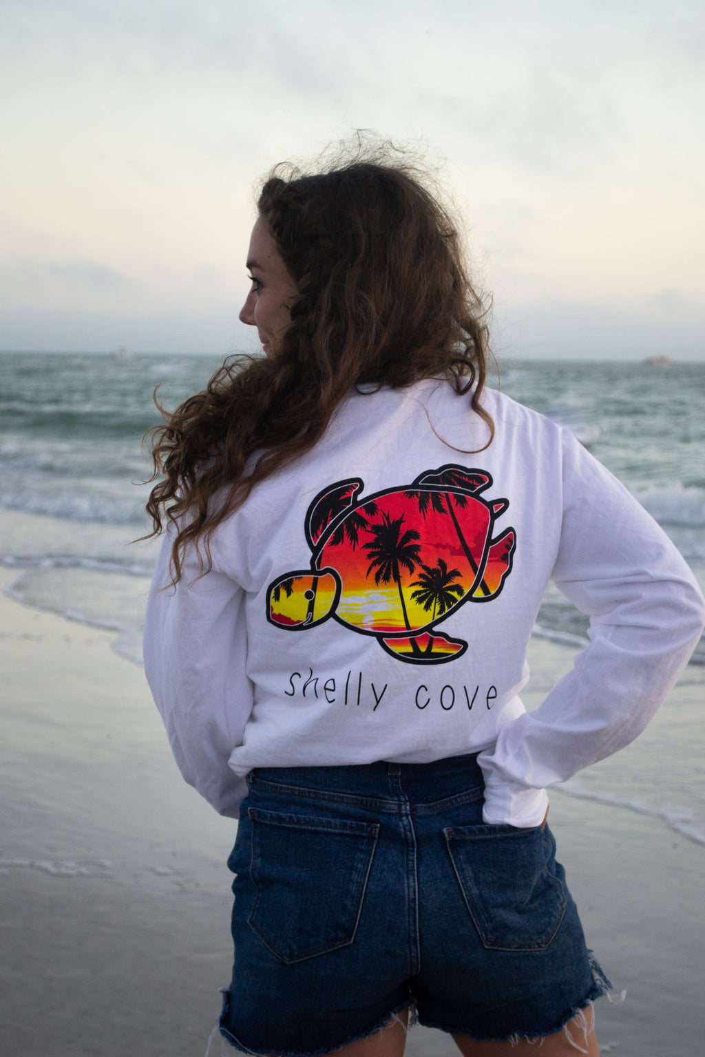 Palm Island Long Sleeve Tee - Shelly Cove