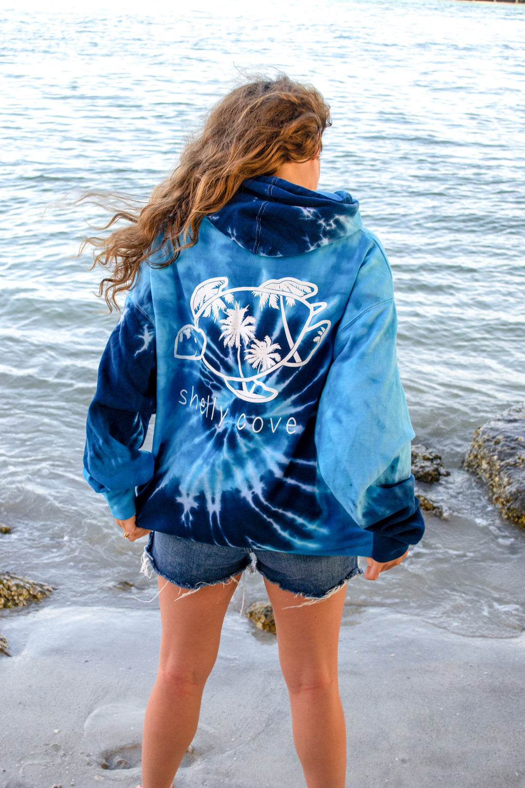 Blue Storm Tie-Dye Hoodie - Shelly Cove