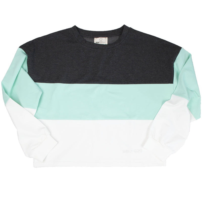 Colorblock Cropped Crew - Shelly Cove