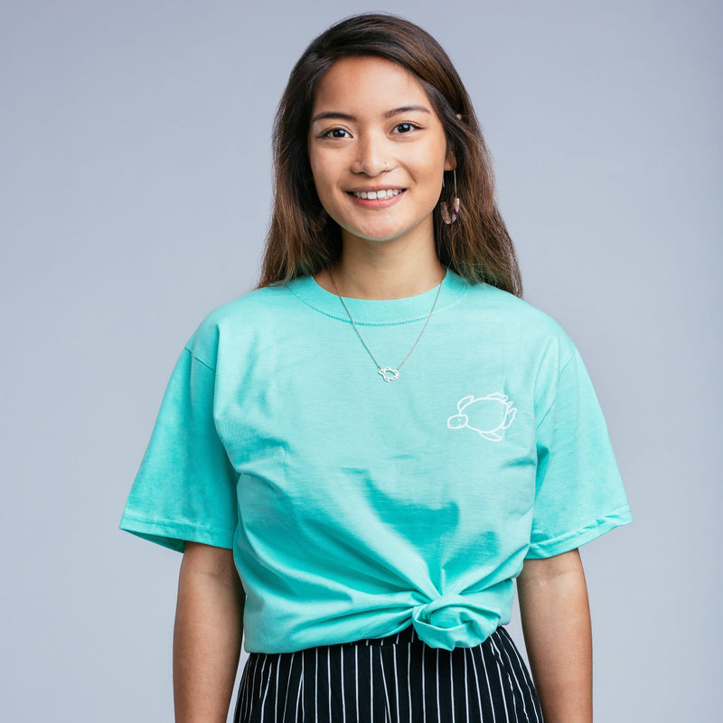 Island Marina Mint Short Sleeve Tee - Shelly Cove