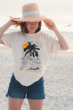 Sunset Surf Short Sleeve Tee - Shelly Cove