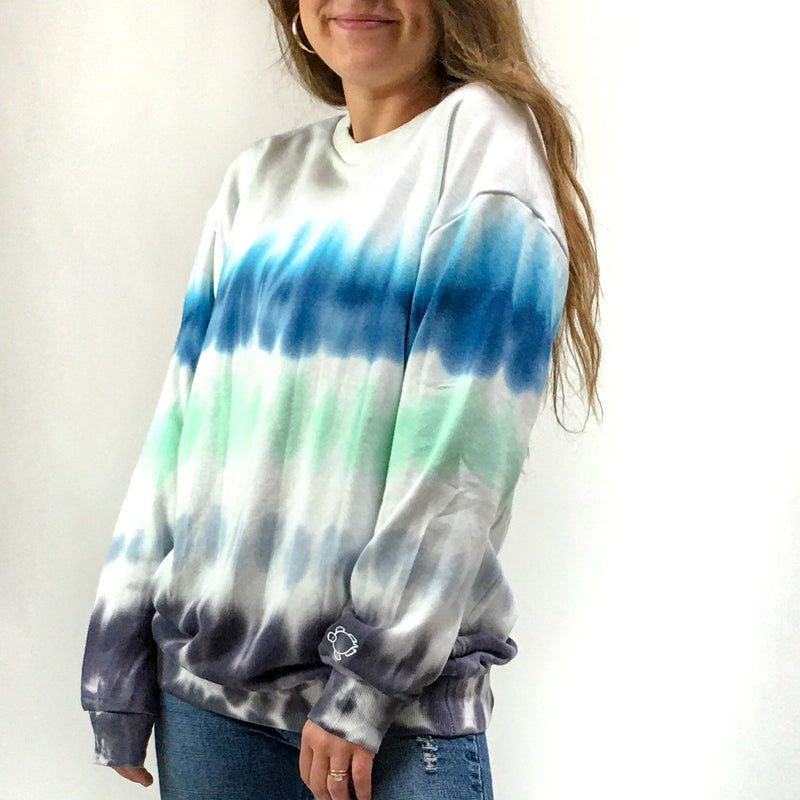 Dip Dye Ombre Crew Neck - Shelly Cove