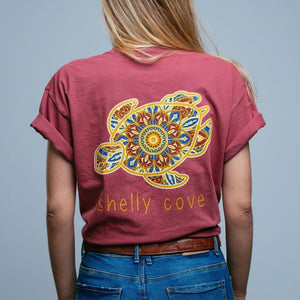 Bohemian Jewel Ruby Short Sleeve Tee - Shelly Cove