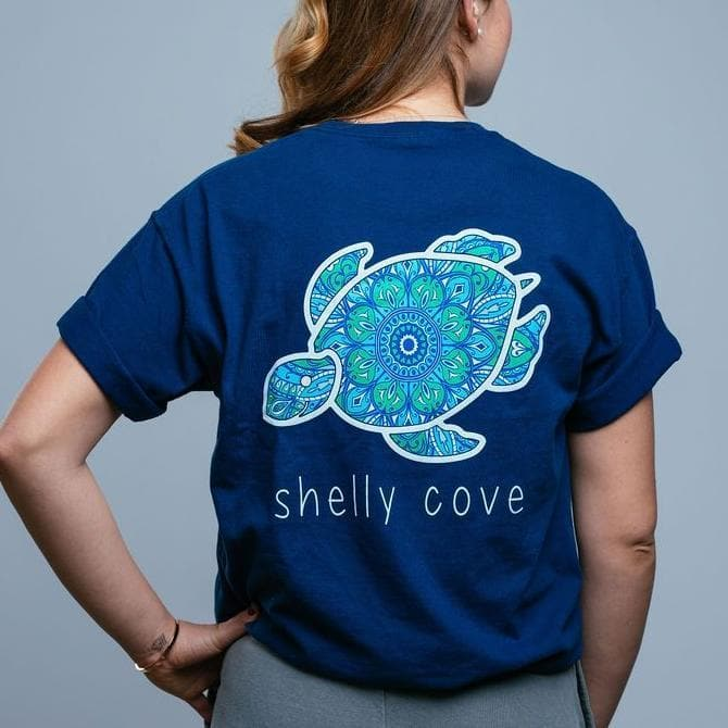 Bohemian Jewel Peacock Short Sleeve Tee - Shelly Cove