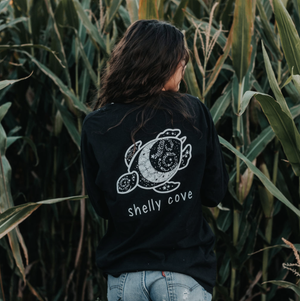 Moon Mandala Long Sleeve Tee - Shelly Cove